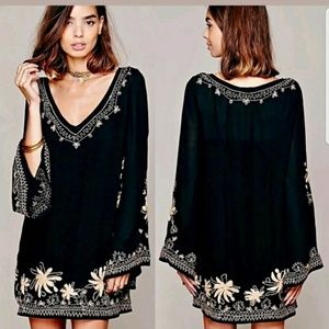 Free People Sky Fall Embroidered Dress | Small